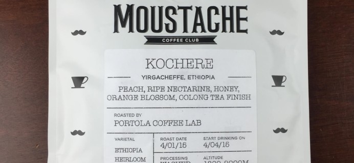 April 2015 Moustache Coffee Club Review + Free Coffee Trial