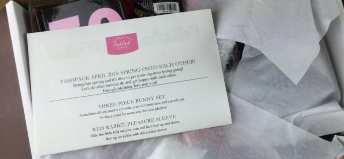 PashPack Review April 2015 + Coupon – Adult Subscription Box