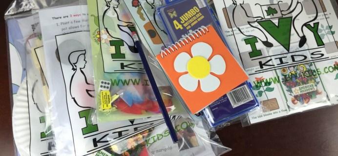 April 2015 Ivy Kids Subscription Box Review