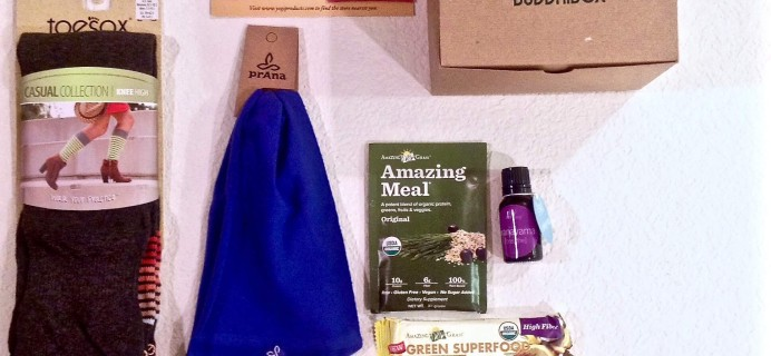 April 2015 BuddhiBox Review + Coupon – Yoga Subscription Box