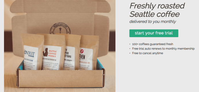 New Bean Box Coffee Subscription Free Trial Offer!