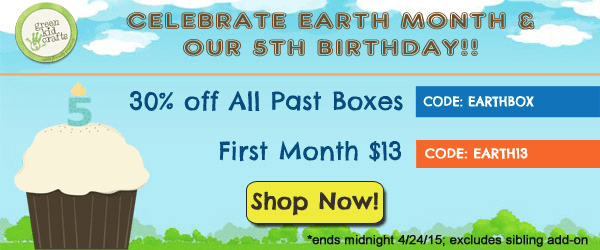 Green Kid Crafts Earth Month Coupon Codes