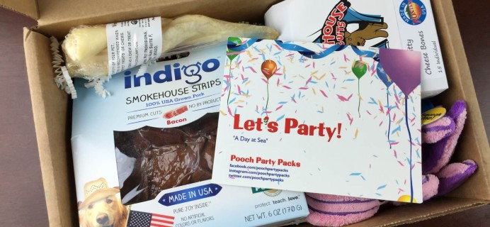 Pooch Party Packs Dog Subscription Box Review & Coupon – April 2015 #PoochPartyPacks