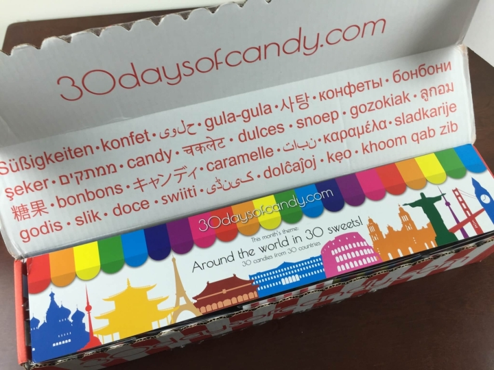 30 days of candy intro box