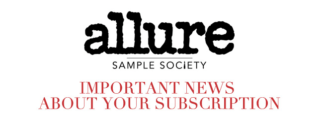 Allure Sample Society News