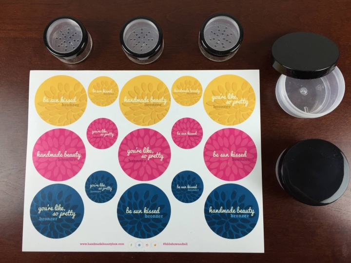 Handmade Beauty Box May 2015 containers