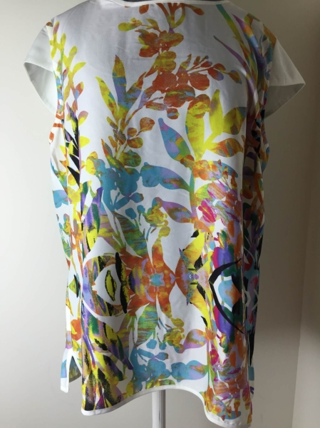 Kut From The Kloth Kristy Cut Out Printed Top