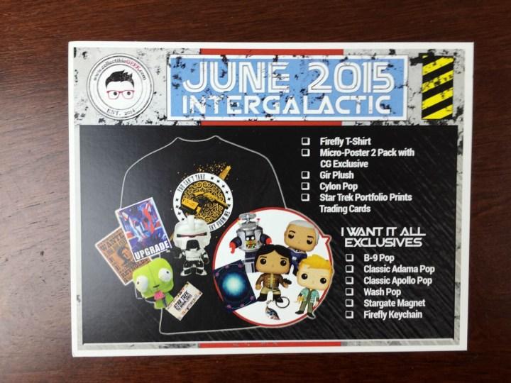 collectible geek june 2015 card