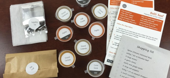 Flavour Delivered Review – Indian Spice Subscription Box – June 2015