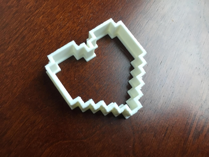 gamer girl monthly june 2015 3d heart cookie cutter