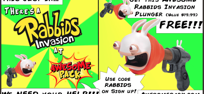 Awesome Pack Coupon: Free Awesome Rabbids Plunger  with Your First Box