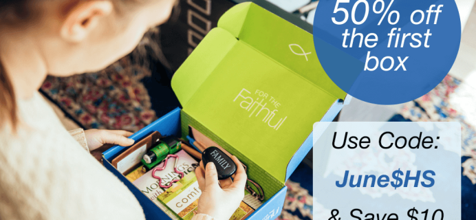For the Faithful Coupon: $10 Off First Box!