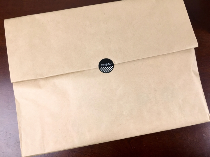 messy box june 2015 envelope