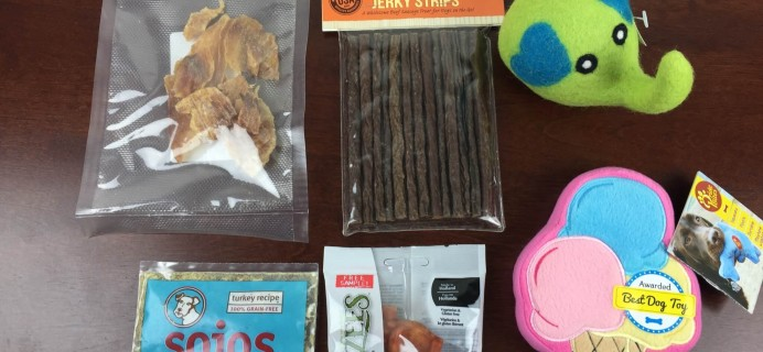 PawPack June 2015 Dog Subscription Box Review & Coupon