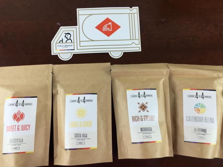 pony brand coffee subscription box review