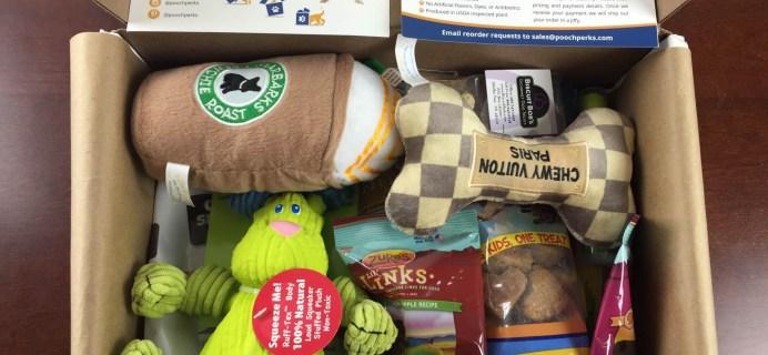 Pooch Perks Dog Subscription Box Review & Coupon: June 2015