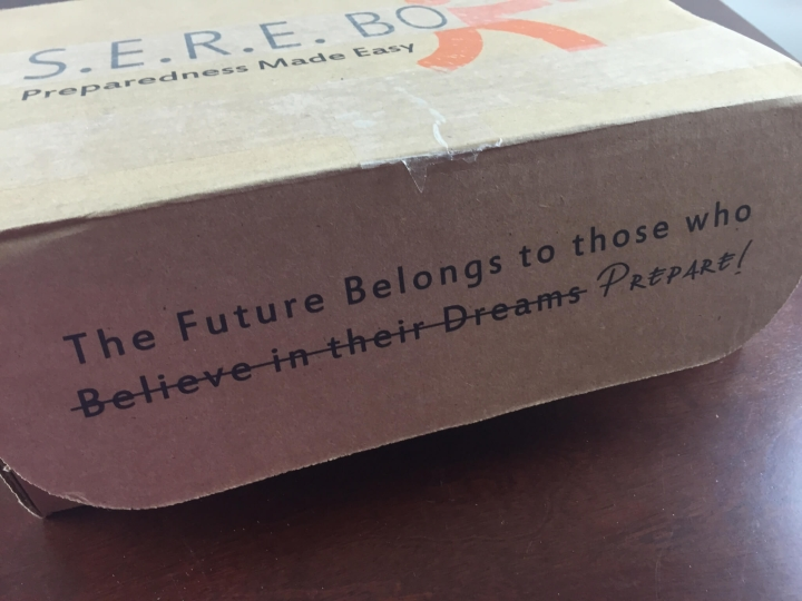 sere box welcome kit review june 2015 IMG_5424
