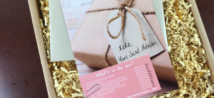 Your Secret Admirer Subscription Box Review – June 2015