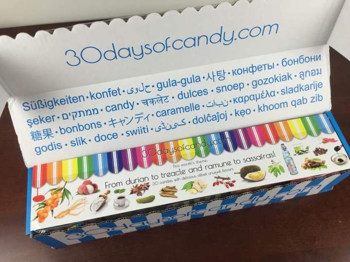 30 days of candy from durian to treacle july 2015 review