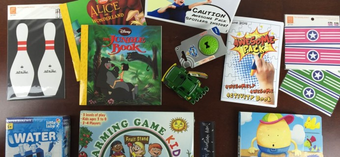 Awesome Pack Subscription Box Review  – June 2015