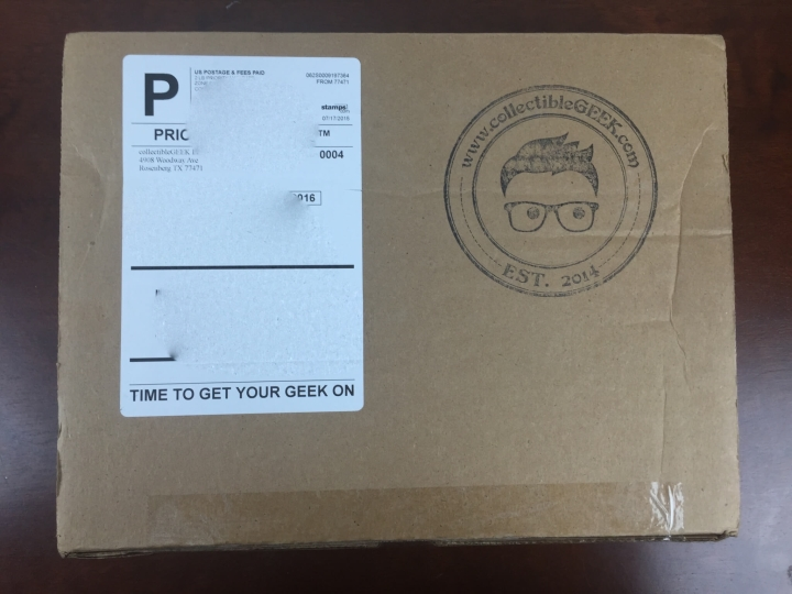 collectible geek july 2015 box