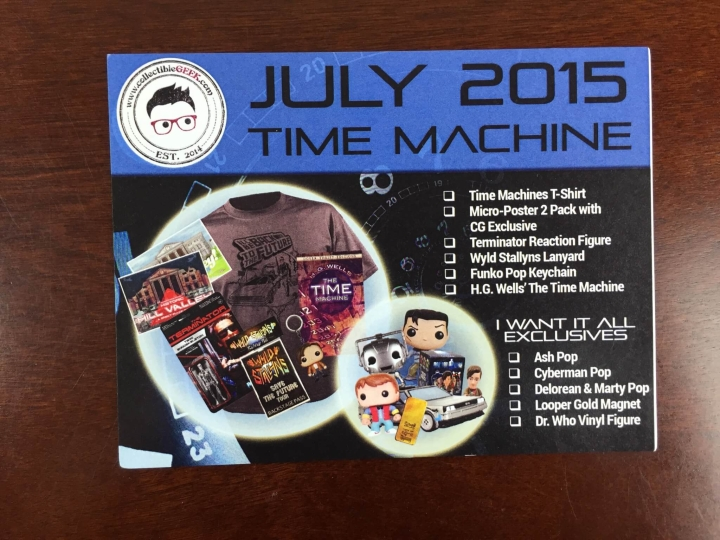 collectible geek july 2015 card