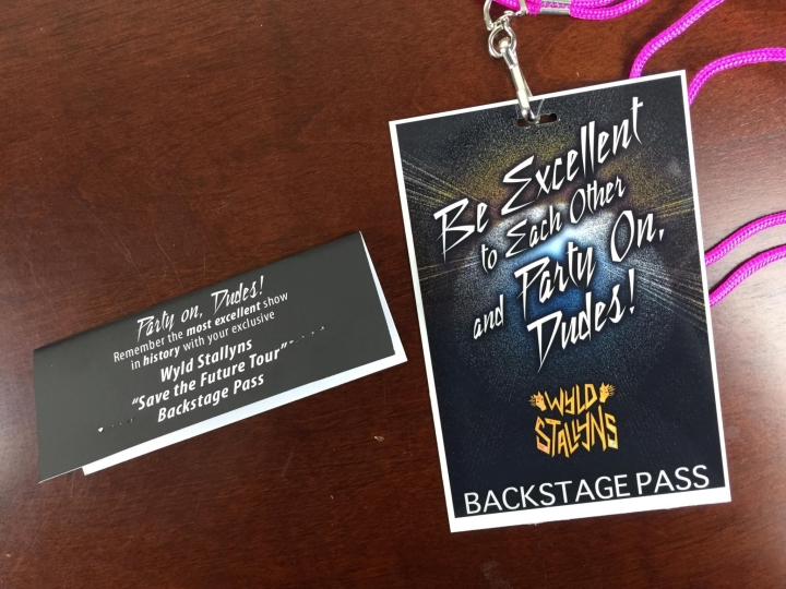 collectible geek july 2015 wyld stallions backstage pass