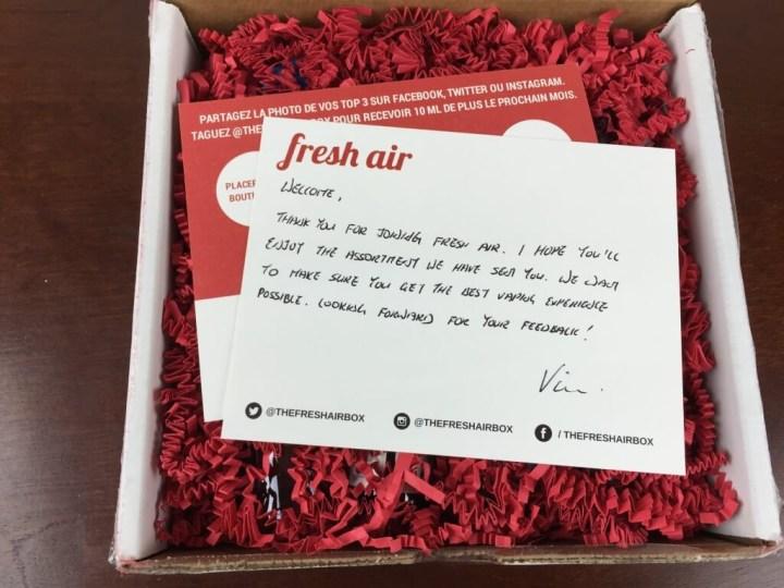 fresh air vaping subscription box july 2015 box