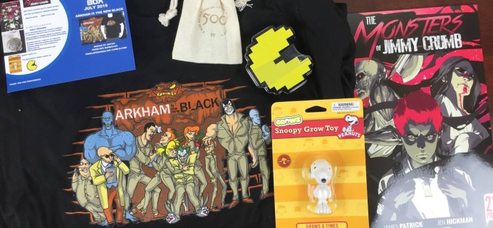 Geek Me Box July 2015 Subscription Box Review