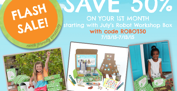 Green Kid Crafts Coupon – Half Off July Robots Box!