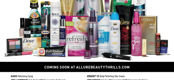 Summer 2015 Allure Beauty Thrills Reminder – On Sale at Noon