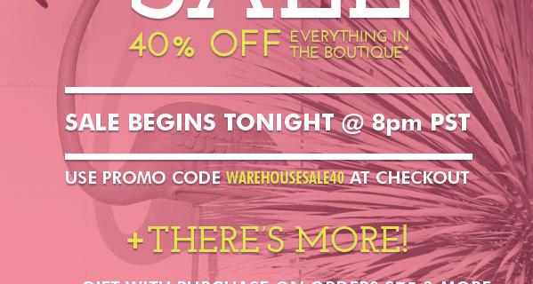 Golden Tote Warehouse Sale – Tonight!