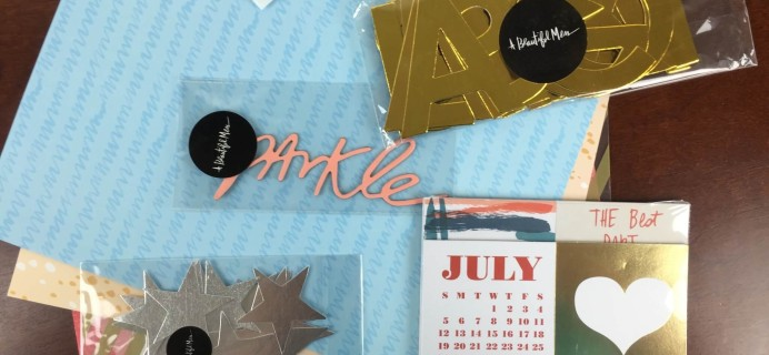 Messy Box July 2015 Subscription Box Review