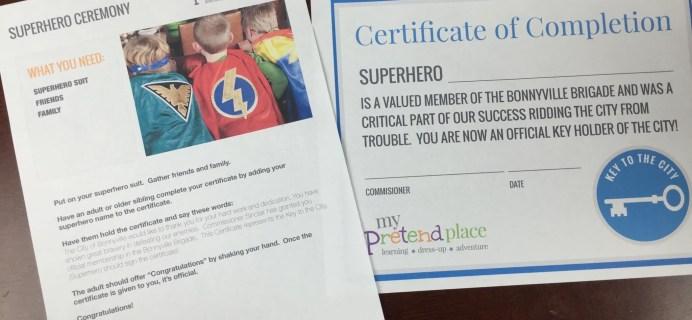 My Pretend Place Subscription Box Review & Coupon – SuperHero Month 3 – June 2015
