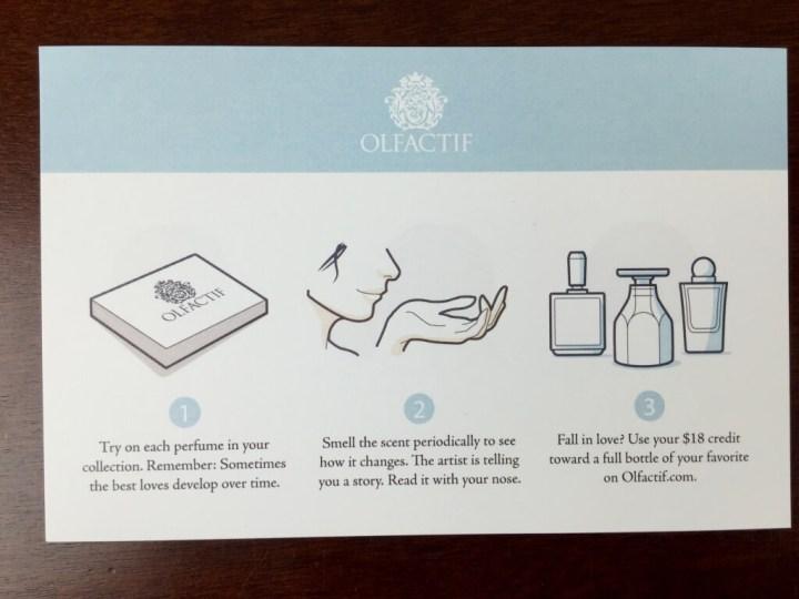 olfactif perfume subscription box july 2015 IMG_6383