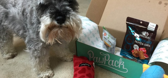 PawPack Dog Subscription Box Review & Coupon – July 2015