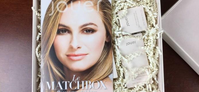 July Summer 2015 Jouer Le Matchbox Beauty & Makeup Subscription Box Review
