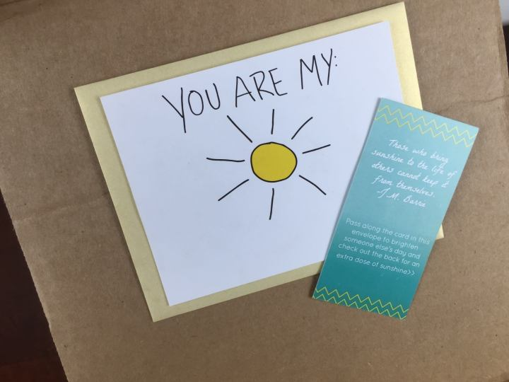 your secret admirer box july 2015 greeting card