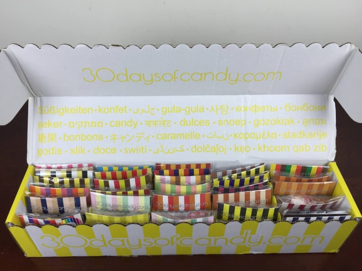 30 days of candy august 2015 unboxing 2