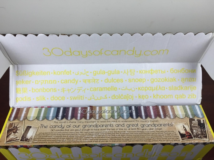 30 days of candy august 2015 unboxing