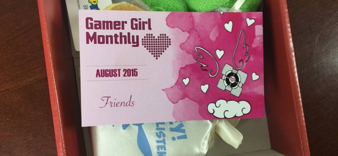 Gamer Girl Monthly Subscription Box Review – August 2015
