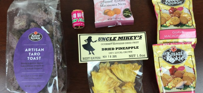 August 2015 Hawaii Snack Box Subscription Box Review & Coupon
