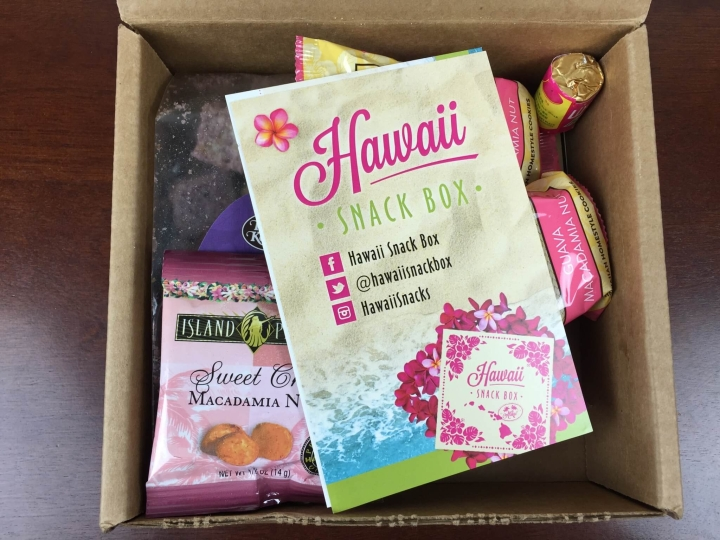 hawaii snack box august 2015 unboxing