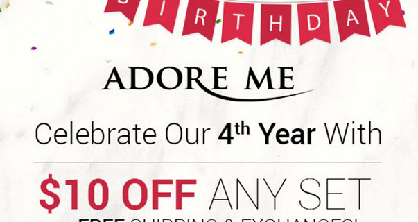 New Adore Me Coupon – $10 Off Any Set