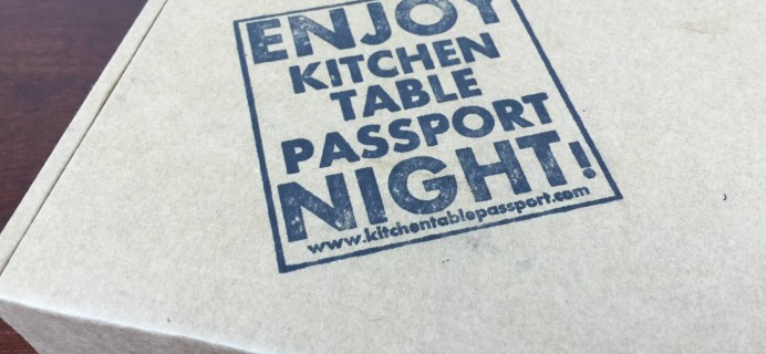 Kitchen Table Passport Subscription Box Review – July 2015 Sweden