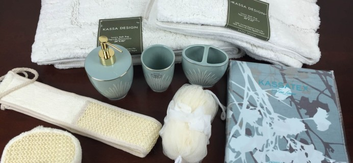 Linen Crate Subscription Box Review & Coupon – August 2015 Powder Room Box