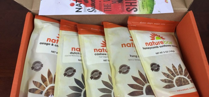 NatureBox August 2015 Subscription Box Review
