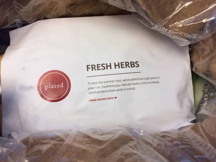 plated protection of herbs