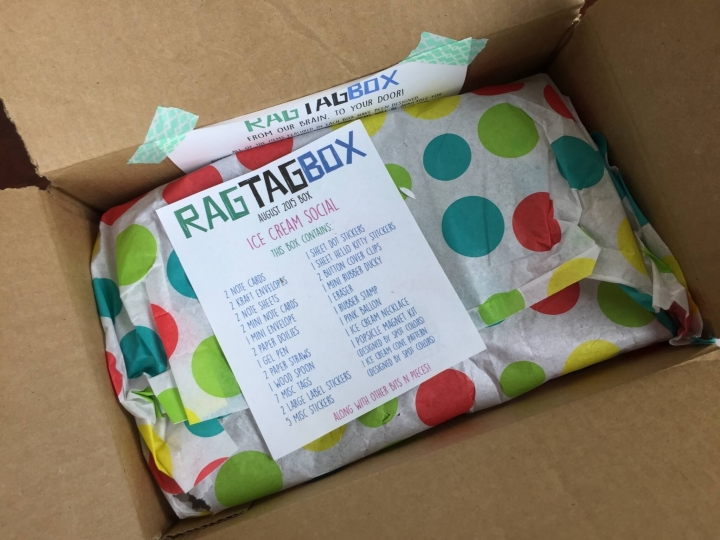 ragtag box review august 2015 unboxing
