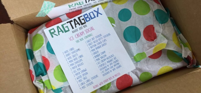 Rag Tag Box Paper Crafts + Stitchy Project Subscription Box Review & Coupon – August 2015